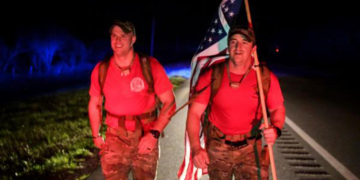 Military members marching 830 miles to honor fallen comrades