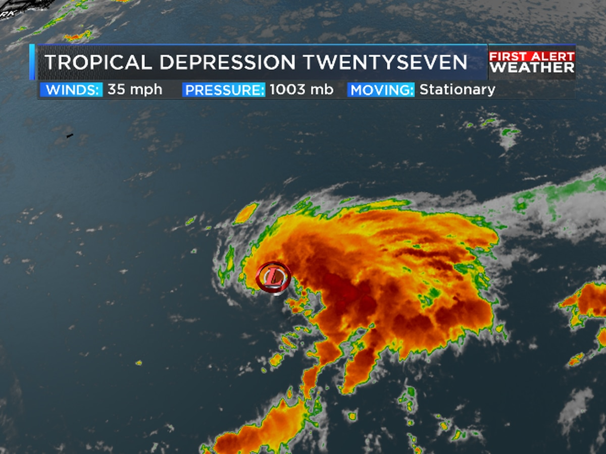 Tropical Depression 27 forms, continuing record Hurricane Season