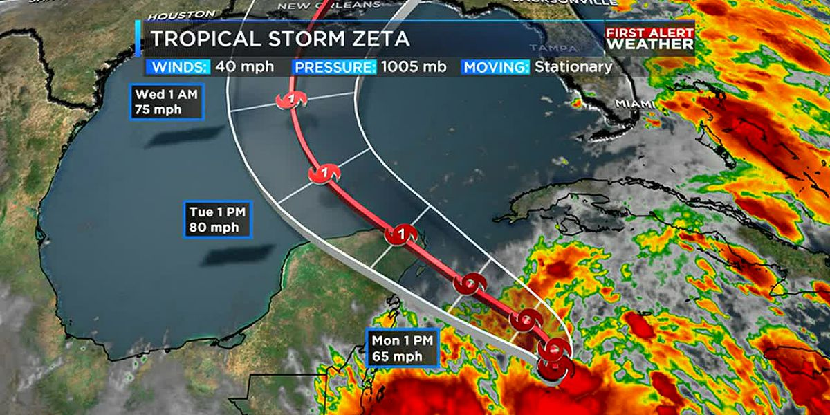 Tropical Storm Zeta forms. Rain and cool weather ahead for the ArkLaTex