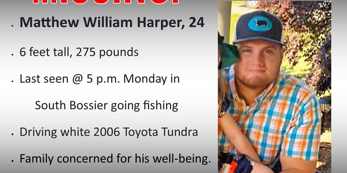 Man disappears after heading out to go fishing