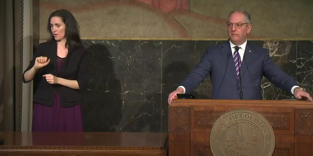 Gov. Edwards speaks during Phase 1 virtual town hall