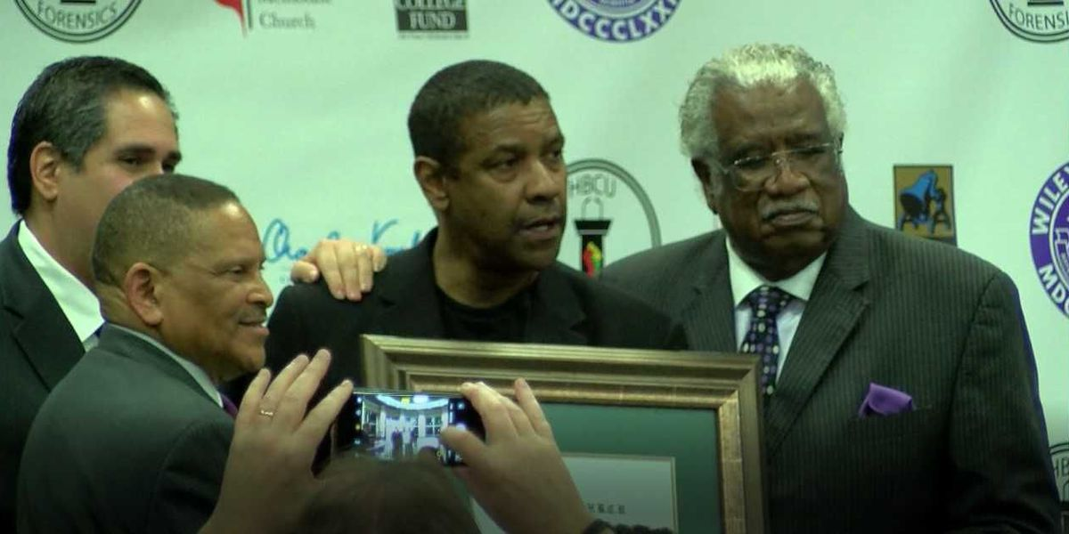 ETX's Wiley College honors Oscar winner Denzel Washington