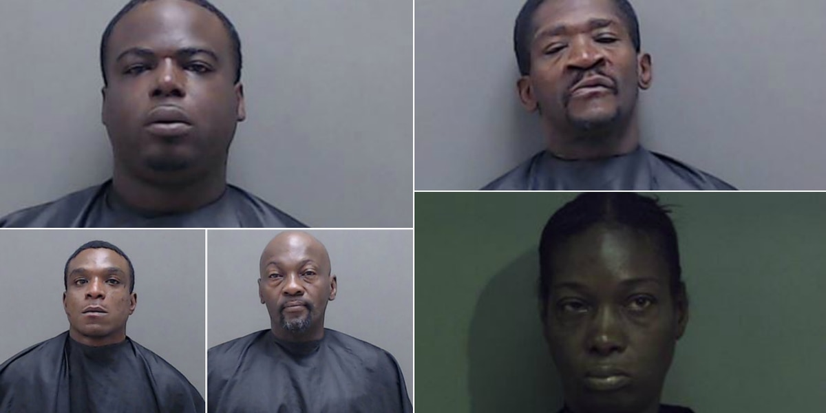 Marshall police arrest 5 people after finding guns, illegal drugs