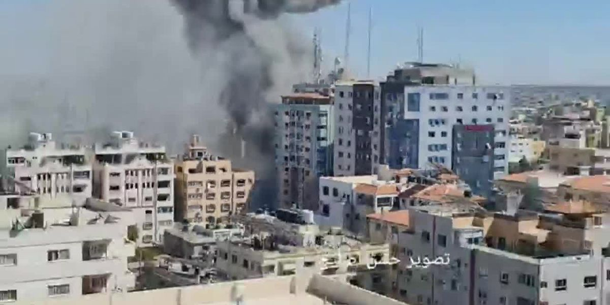 Israeli airstrike destroys building housing media offices