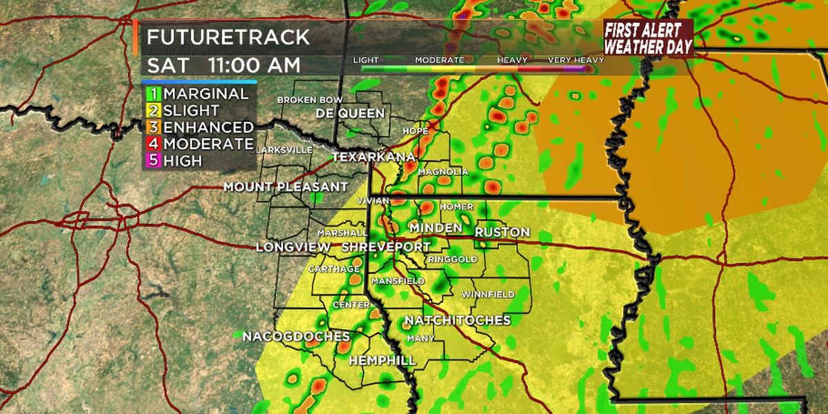 FIRST ALERT WEATHER DAY: Severe storms possible Saturday morning