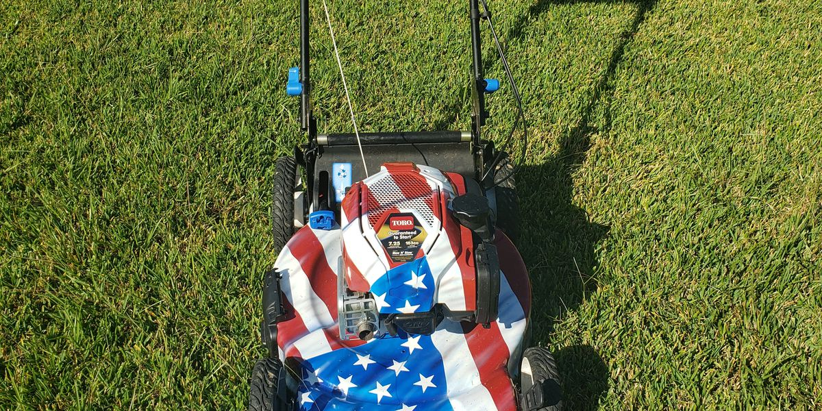 Man mowing lawns across the country visits veteran in Baton Rouge near end of 50-state tour
