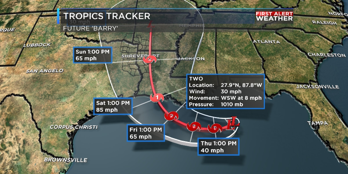 Tropical system could impact the ArkLaTex this weekend