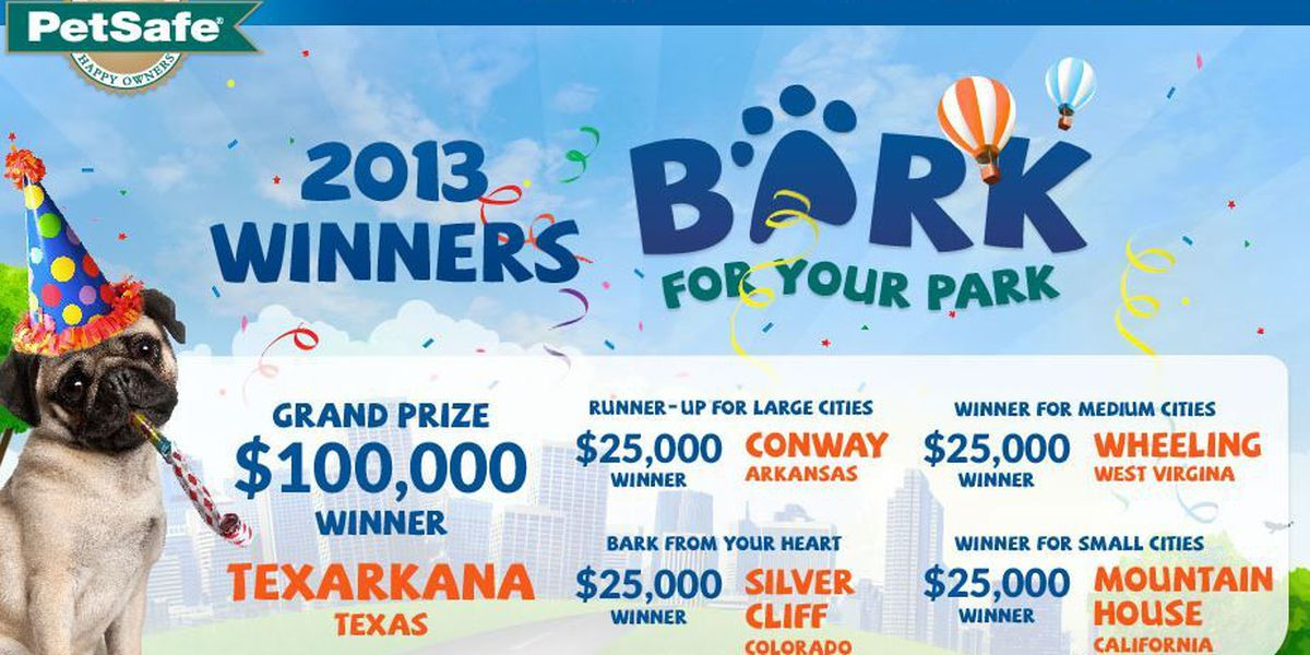 Texarkana, TX takes top prize in Bark for Your Park contest