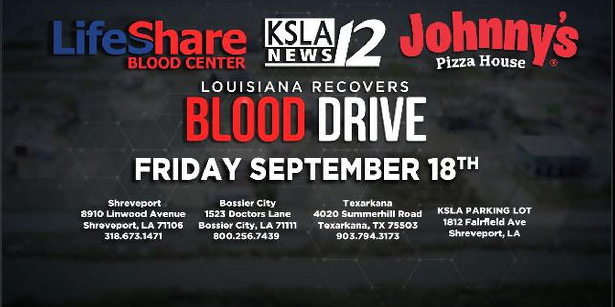 Louisiana Recovers blood drive now taking donors
