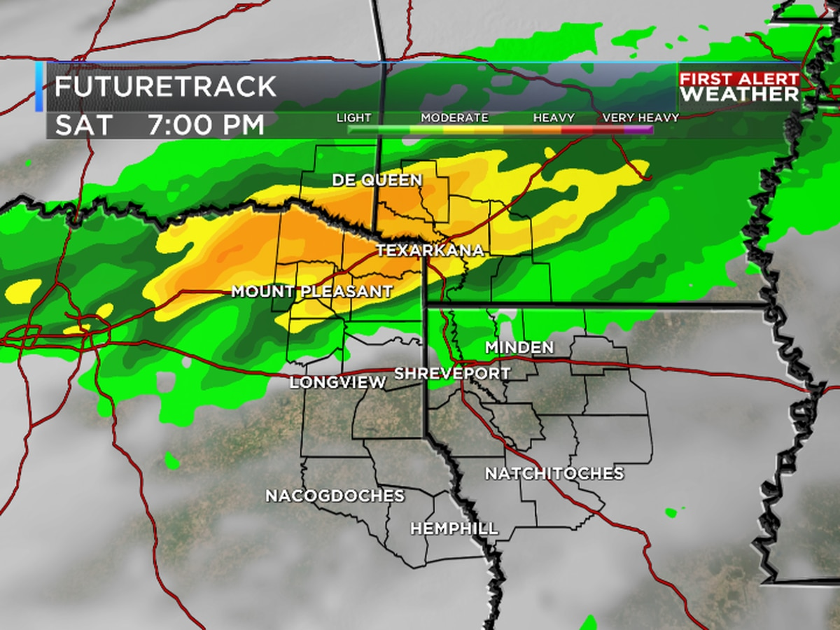 Inches of rain on the way