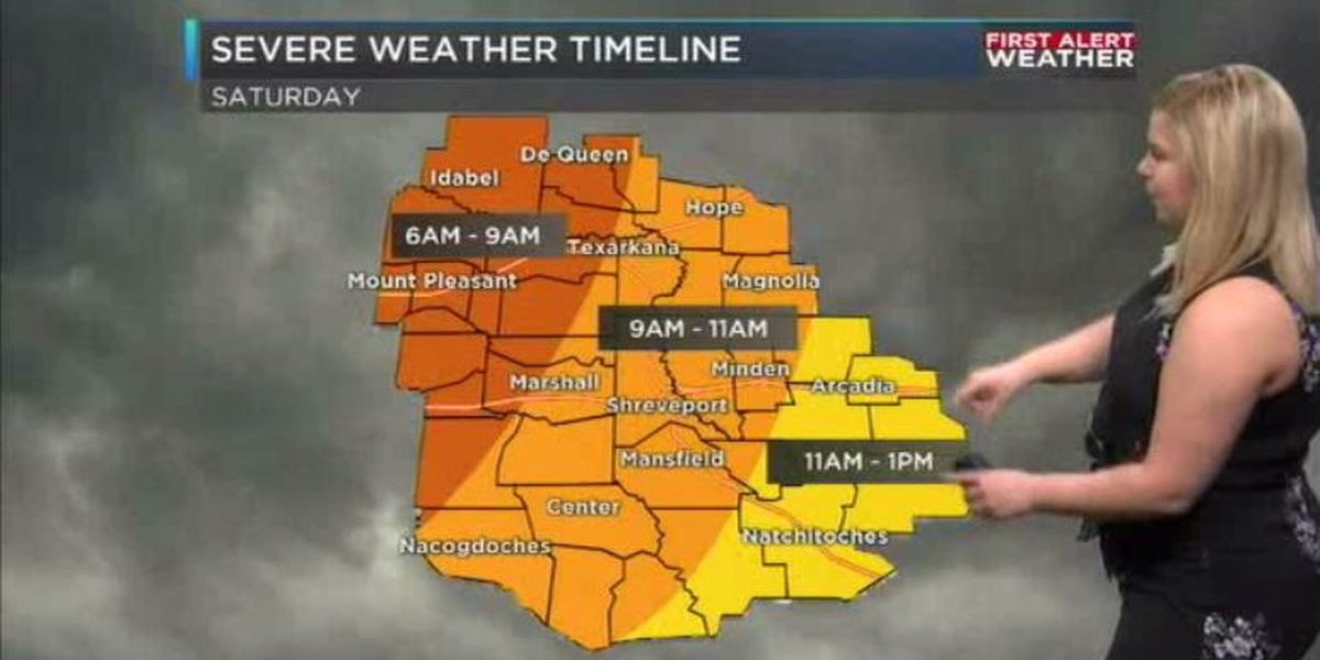 Saturday is a First Alert Weather Day