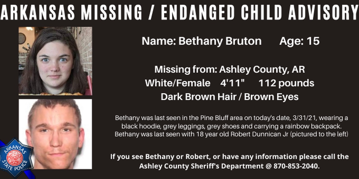 Arkansas Missing/Endangered Child Advisory for Ashley County teen