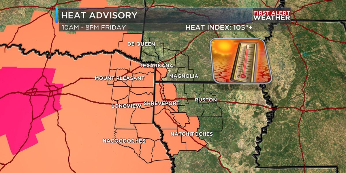 More Intense Heat Friday