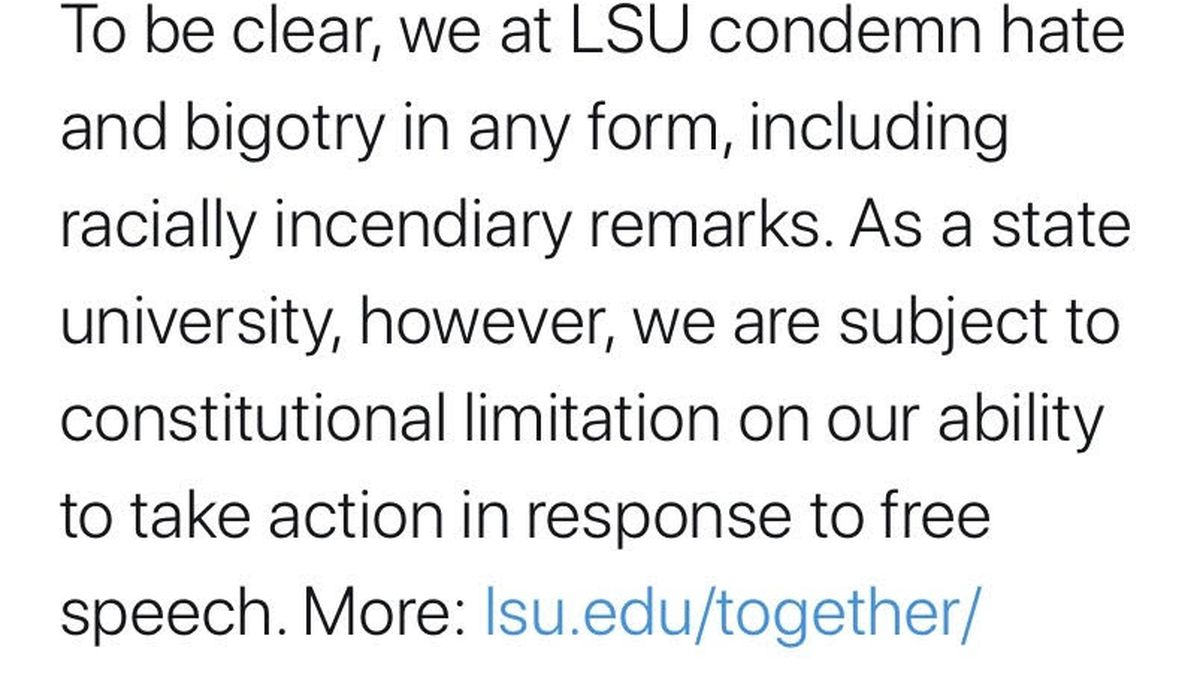 LSU apologizes after uproar over racial slur allegedly used by incoming freshman