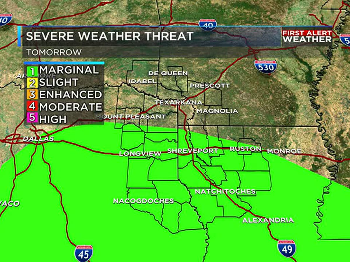 Limited severe threat as rain and storms return
