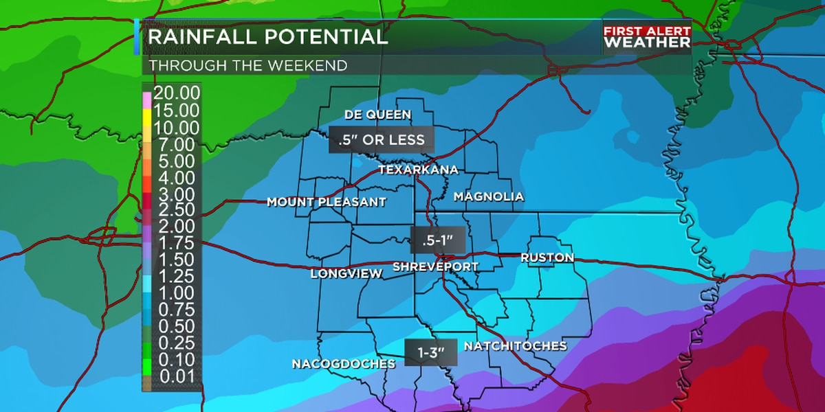 Sunny Thanksgiving followed by more rain