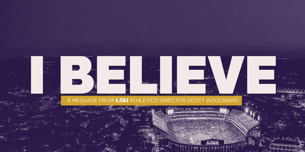 'I believe': A message from LSU's new AD Scott Woodward