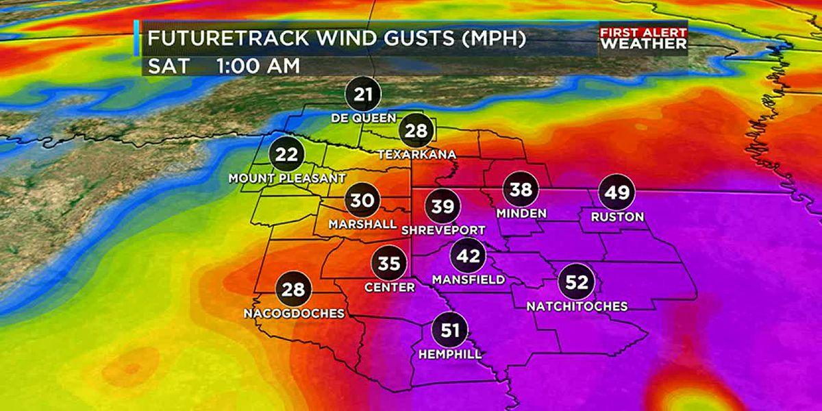 First Alert! Hurricane Delta brings wind and rain to the ArkLaTex