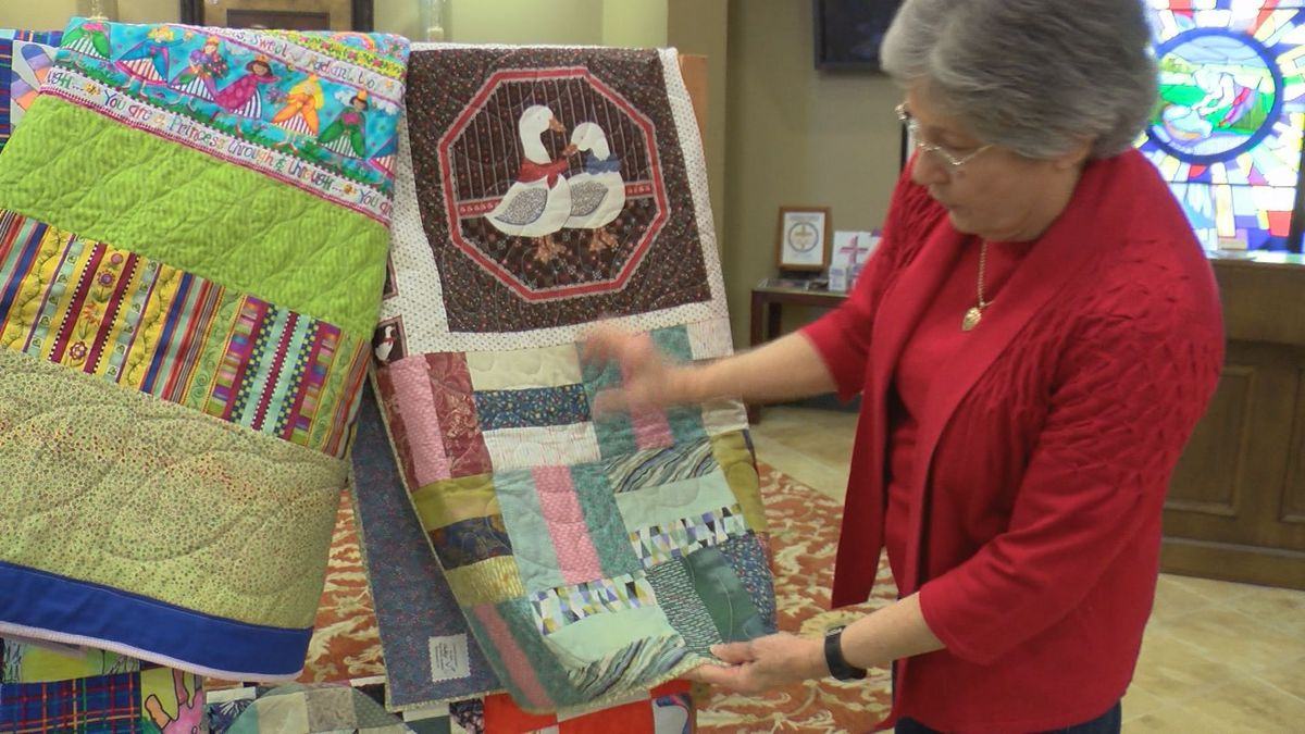 "Quilters make ""love wrappers"" for special patients"