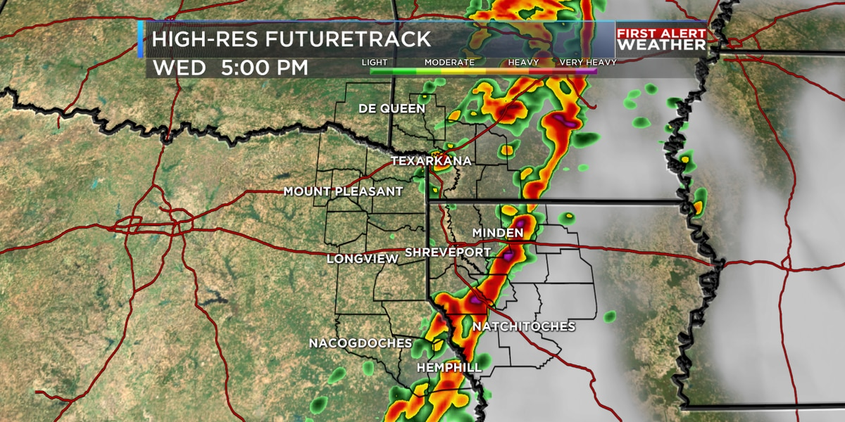 FIRST ALERT: Strong storms could impact the ArkLaTex today