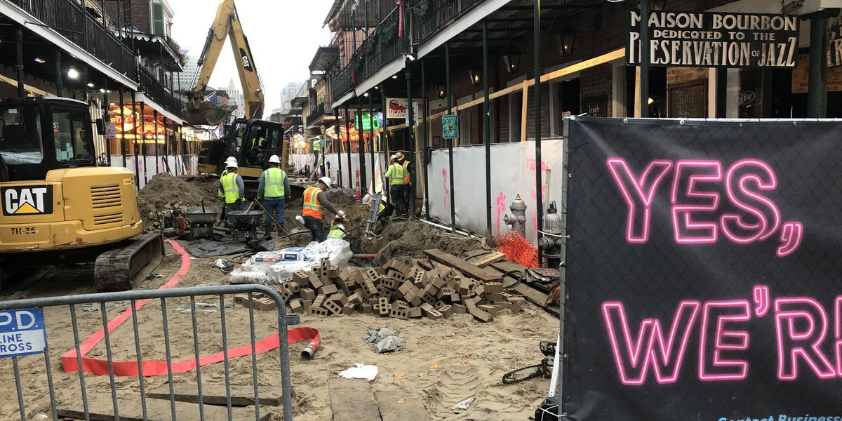 Next phase of Bourbon St. reconstruction project to begin Monday