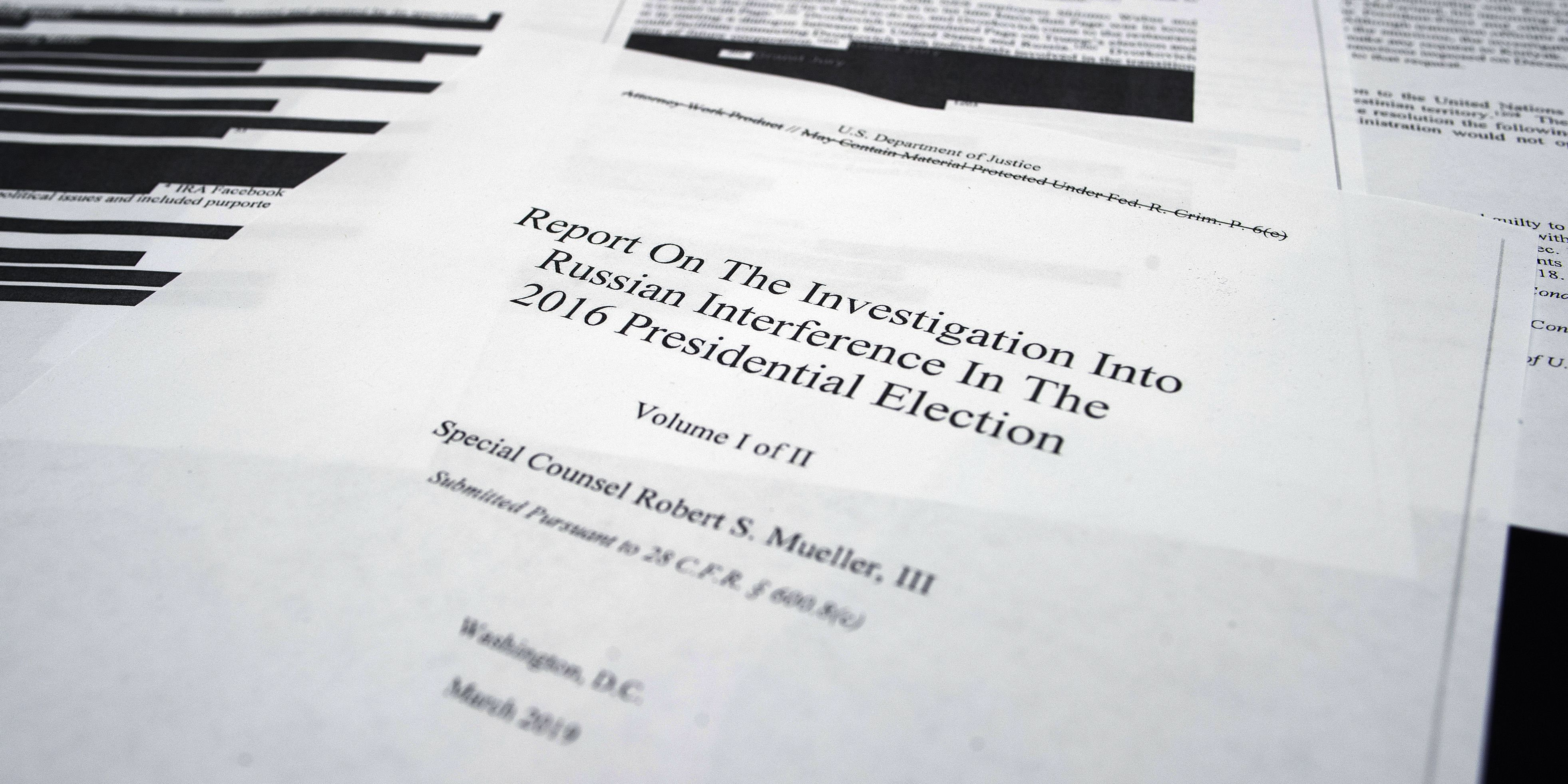 Trump tried to choke Russia probe, oust Mueller, report says; president claims it shows no collusion or obstruction