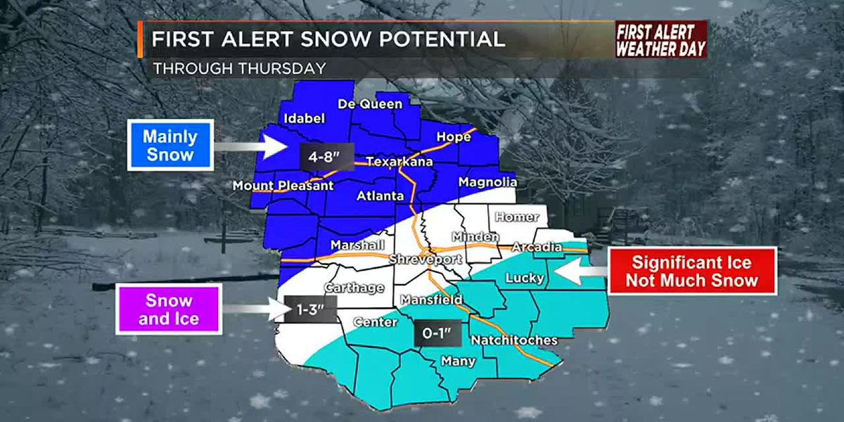 Winter storm brings snow and ice starting Tuesday night
