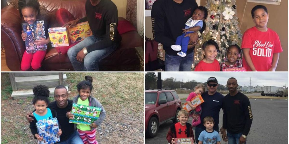 Mansfield man gives presents to put smiles on children's faces