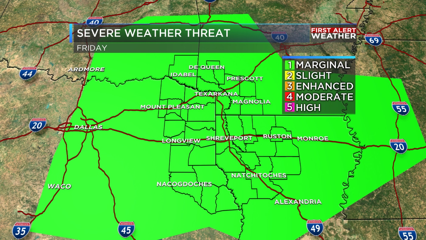 Strong storms possible tomorrow & Saturday