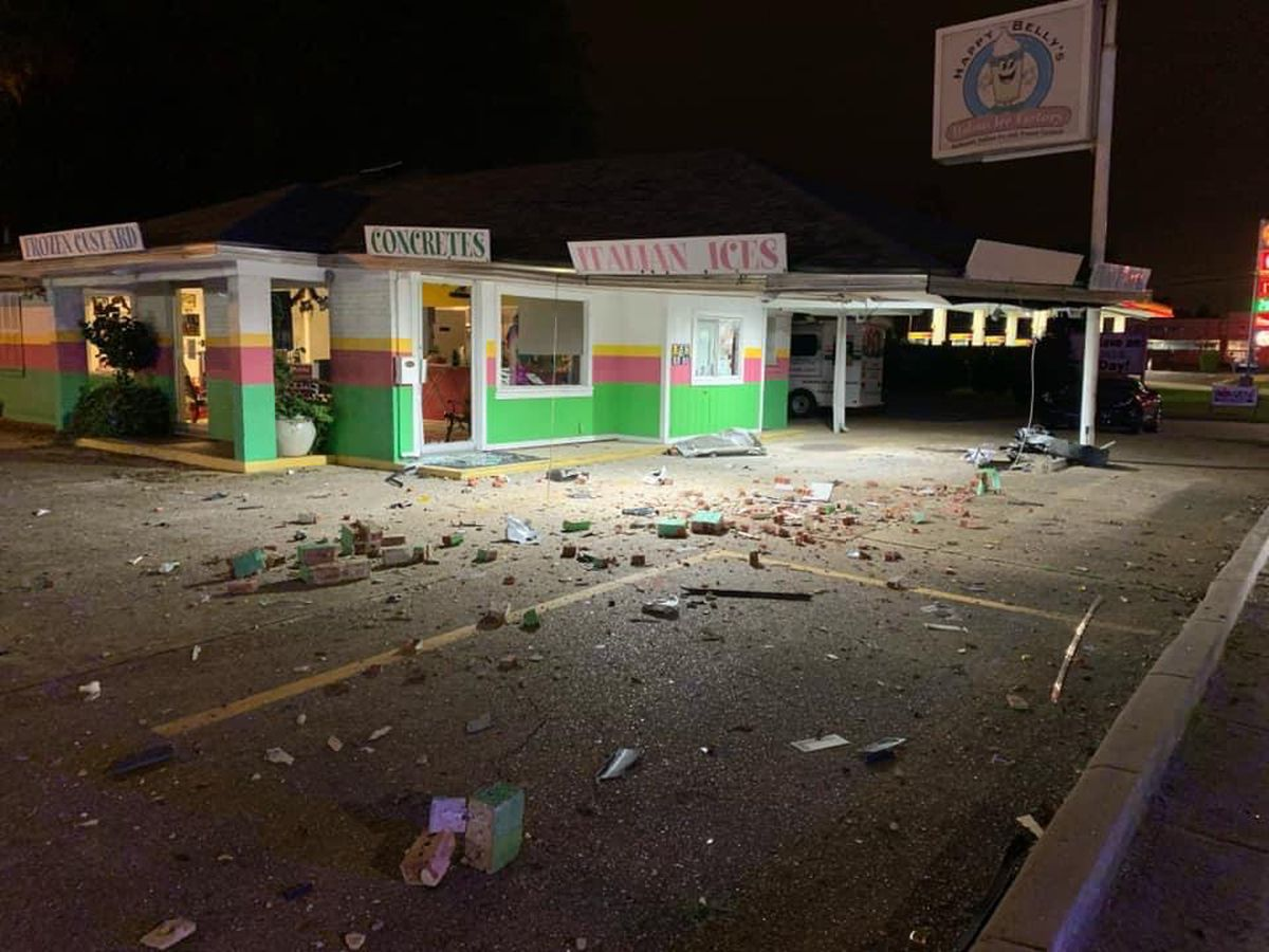 Car crashes into Happy Belly's, causing major damage
