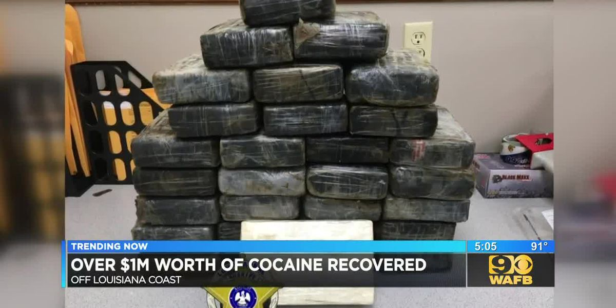 Over $1M worth of cocaine recovered 50 miles off Louisiana's coast