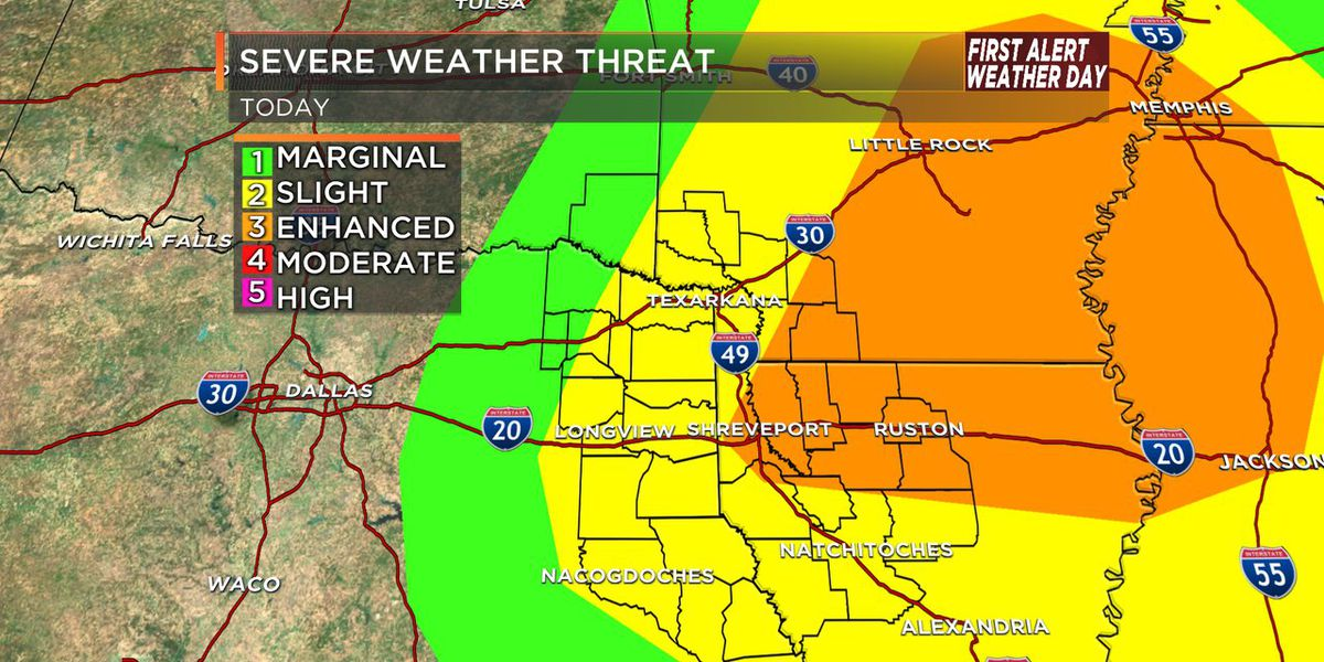 First Alert Weather Day: Severe Risk this afternoon and evening