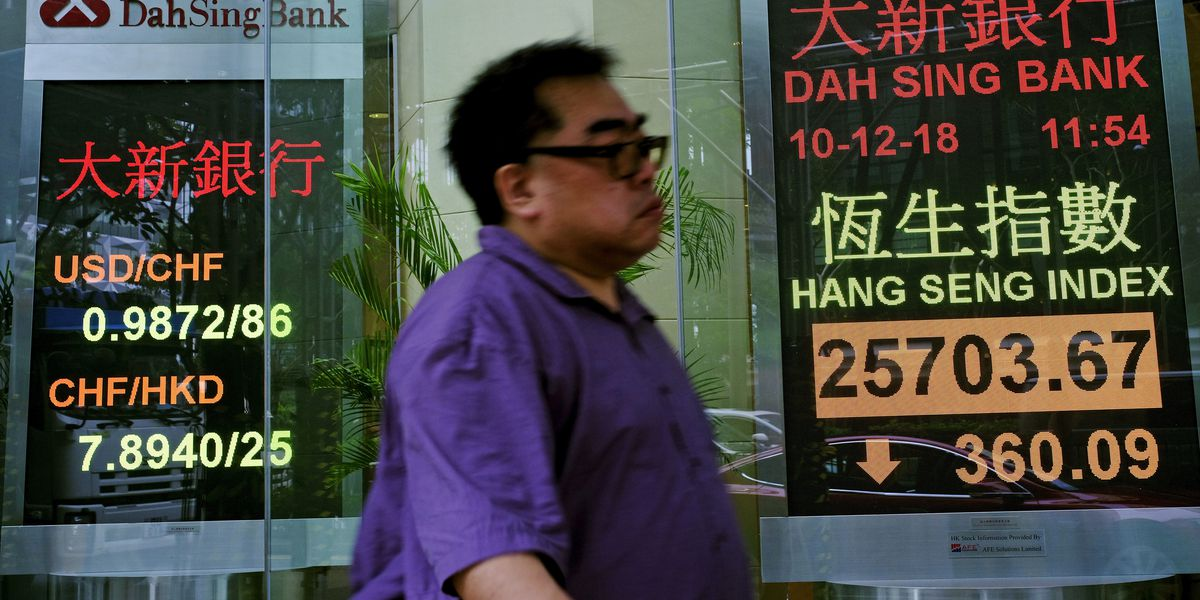 Asian shares fall as Huawei arrest imperils China-US truce