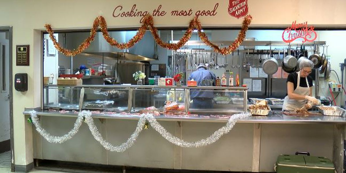 Salvation Army cooks prepare over 150 meals for homeless this Christmas
