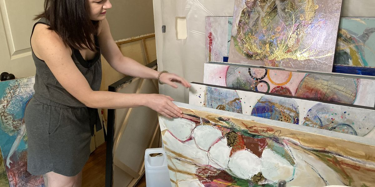 Artist whose studio was destroyed by tornado looks to turn an ugly situation into something beautiful