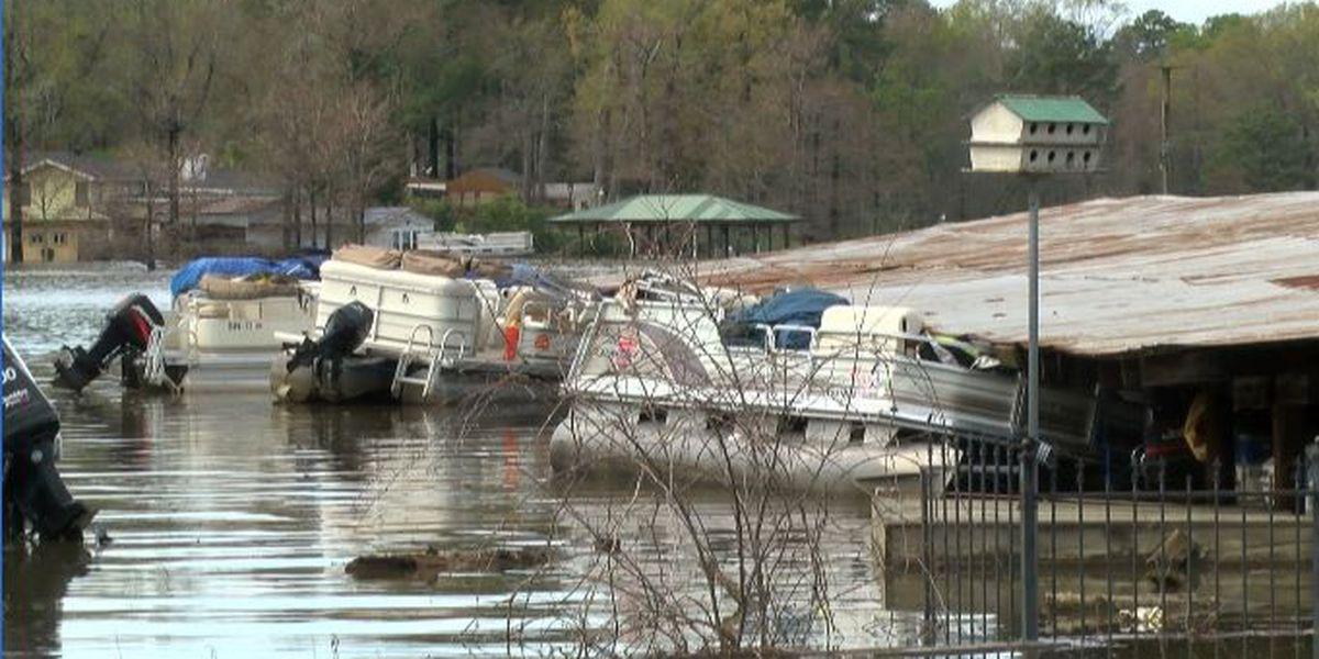 Barron's Marina damaged by rising water