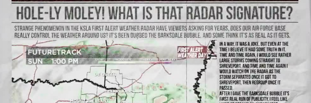 THE BARKSDALE BUBBLE: Explaining the legend of the 'weather manipulation device' protecting Barksdale Air Force Base