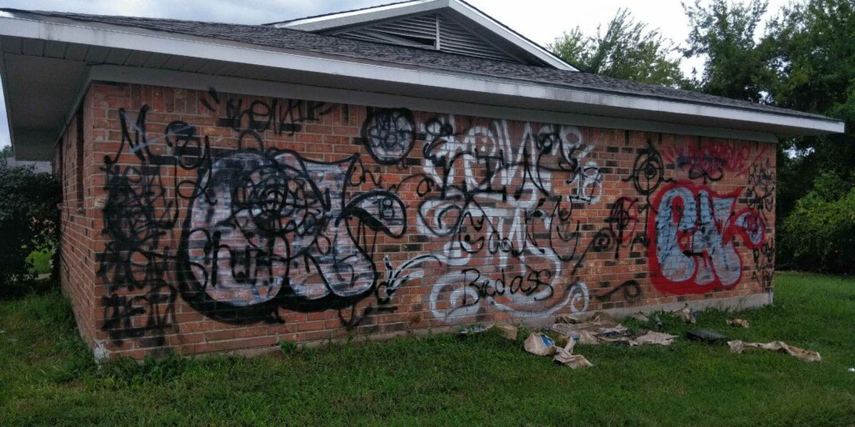 Taking Back Our Streets: Taggers targeting some downtown Shreveport buildings