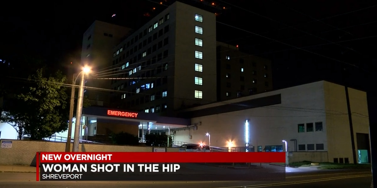 Woman hospitalized after being shot in hip