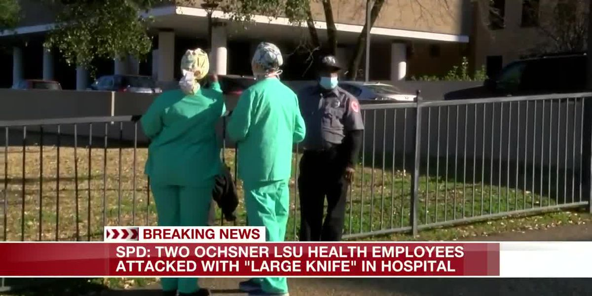 "SPD: 2 Ochsner LSU Health workers attacked with ""large knife"" inside Shreveport hospital"