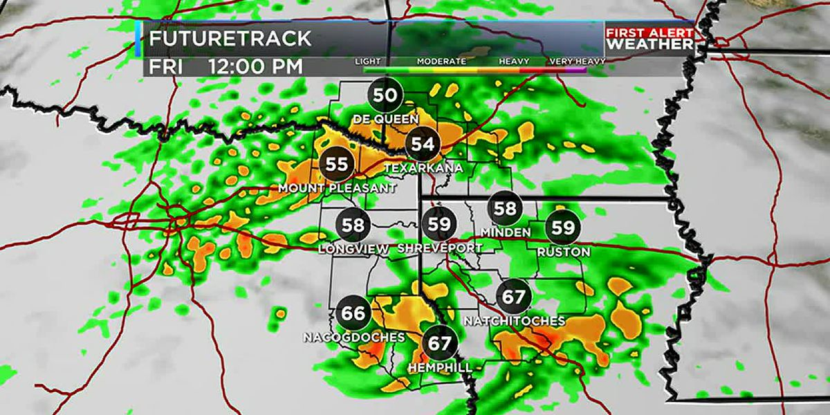 Rain and storms Friday ahead of a dry weekend