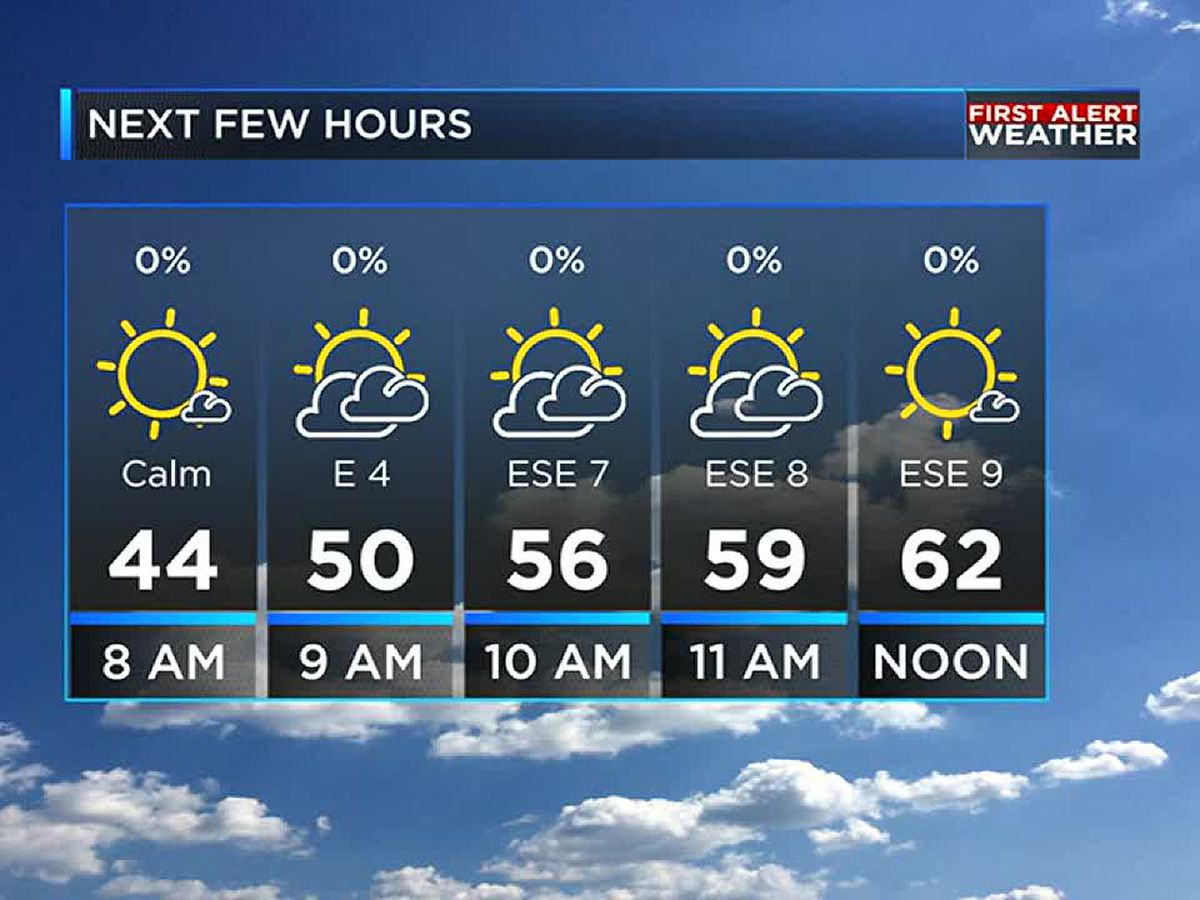 Sunny, warm, and dry weather for Sunday