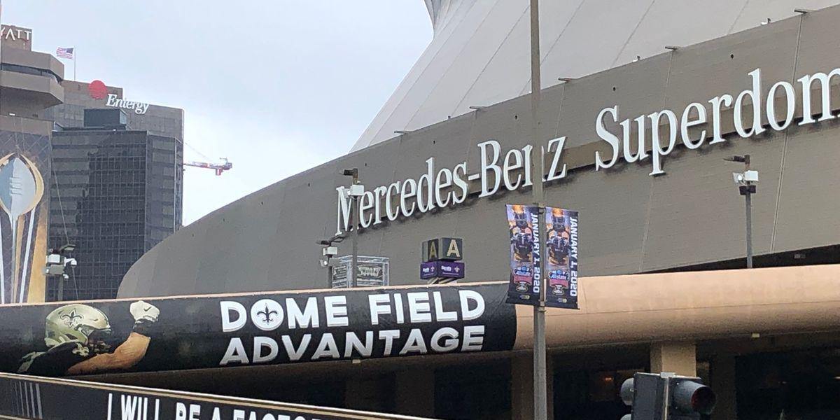 Superdome officials erase Sugar Bowl logos, replace with fleur de lis