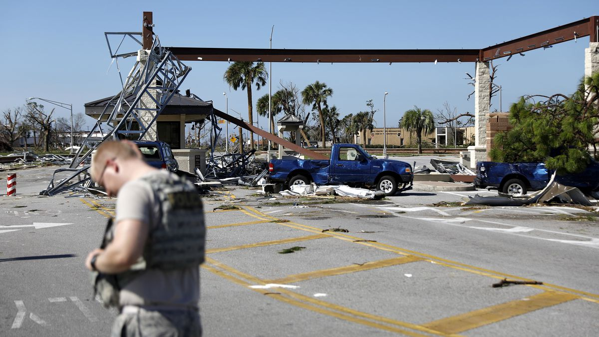 With direct hit, Hurricane Michael wrecked Tyndall Air Force Base