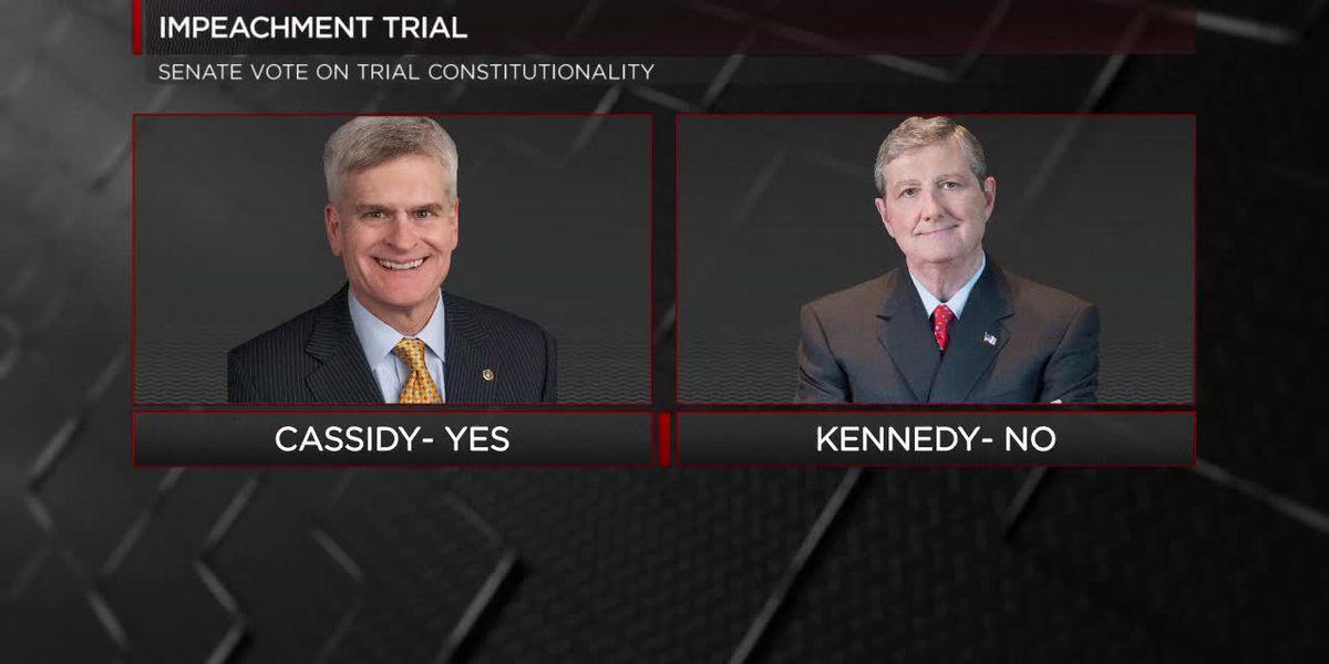La. senators split on constitutionality of impeachment trial