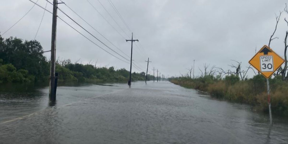 VIDEO: Water covering some roads in St. Bernard Parish from TS Beta's winds
