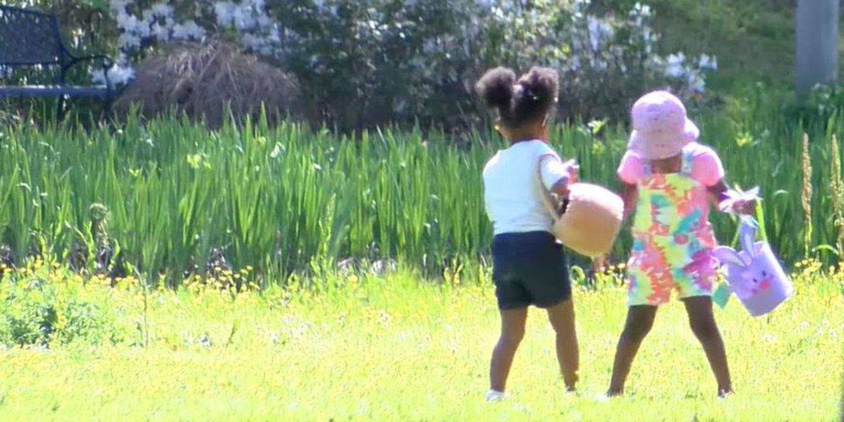 Families head outdoors to enjoy a sunny Easter Sunday