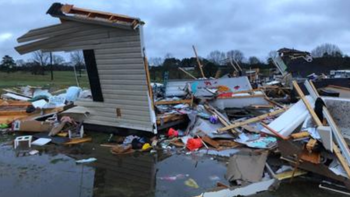 Mobile homes statistically are among the least safe places to be in a tornado