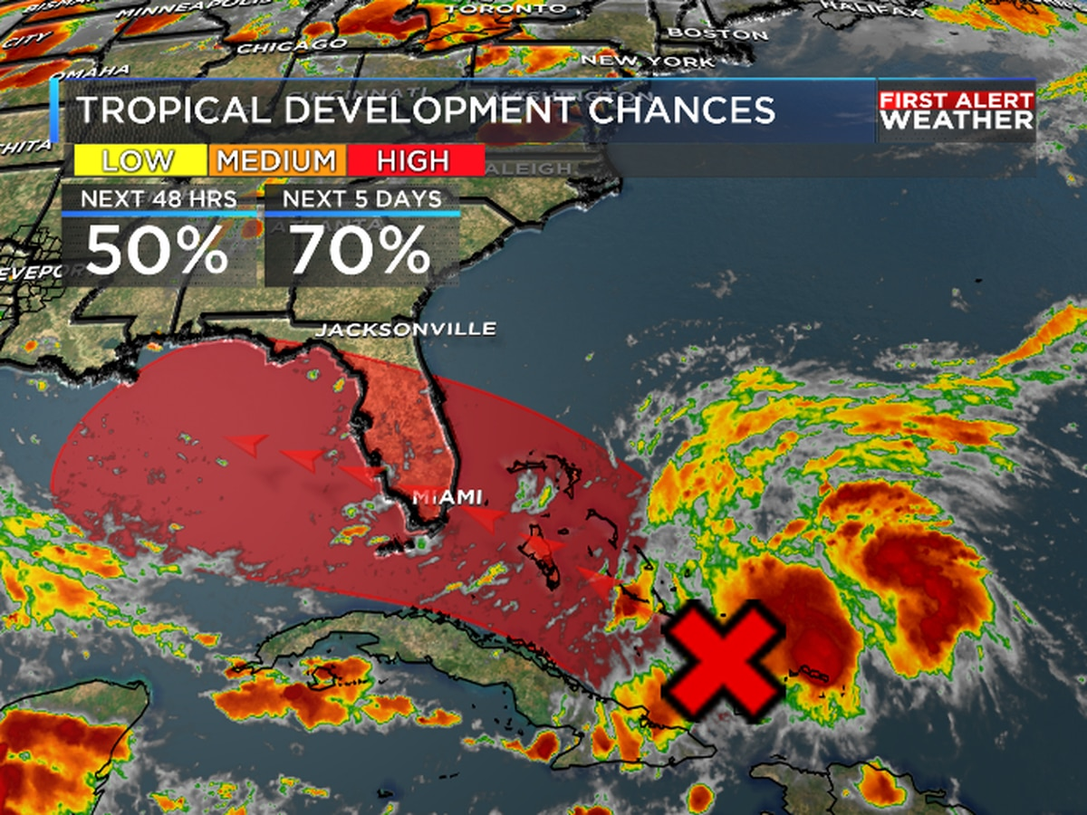 First Alert: Tropical Depression appears likely near Florida or eastern Gulf of Mexico by the weekend