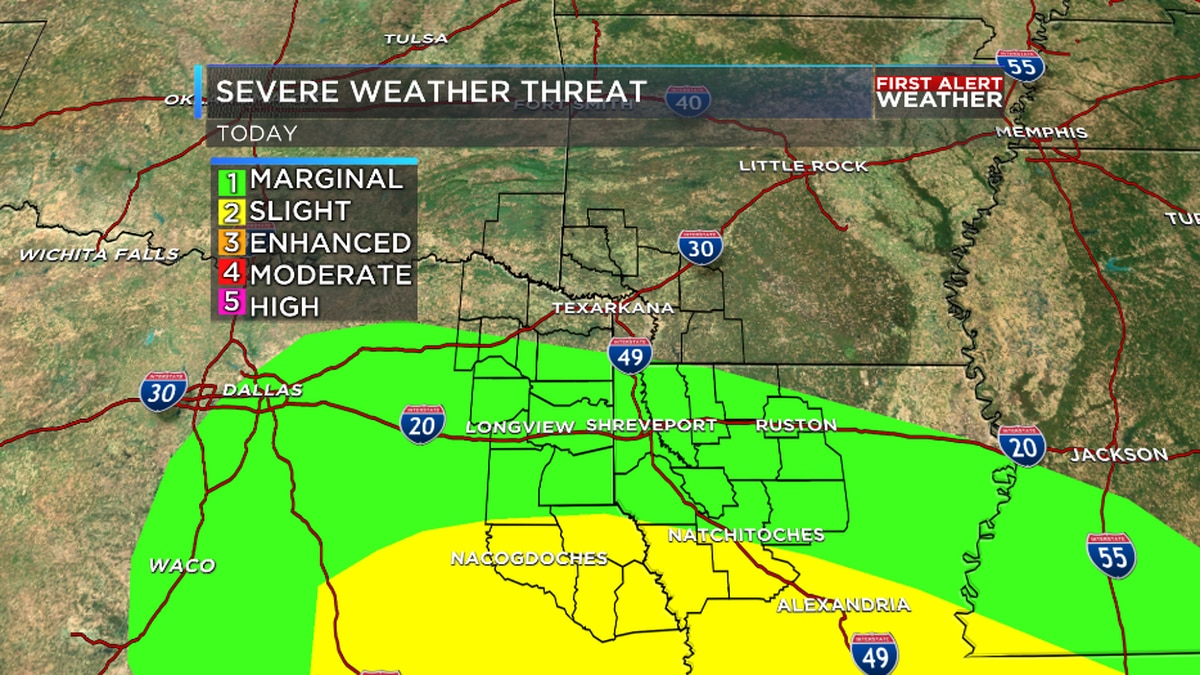 Wet and cooler weather ahead for ArkLaTex